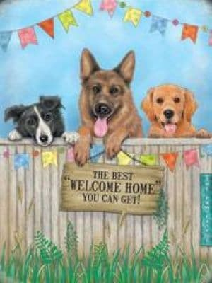 The Best Welcome Home Dog Plaque