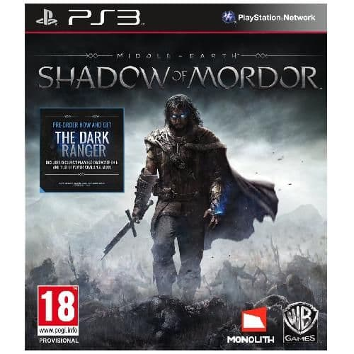 Middle-Earth Shadow of Mordor PS3 Game