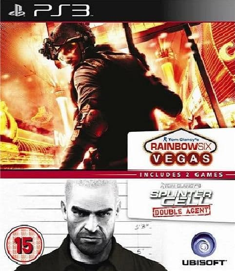 Splinter Cell Double Agent and Rainbow 6 Vegas PS3 Game