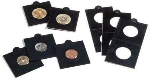 Pack of 50 BLACK Self Adhesive Lighthouse Coin Holders