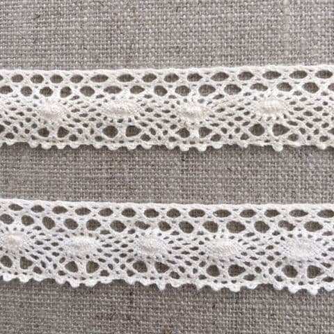 20mm Natural Cream Cotton Lace