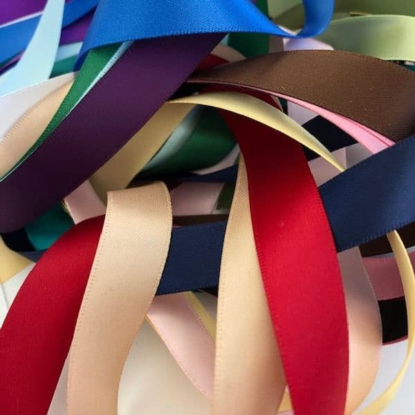 Craft Fairy Grab Bag 16mm Assorted Coloured Satin 20 metre Ribbon Pack