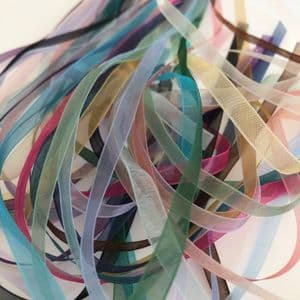 Craft Fairy Grab Bag 6mm Assorted Coloured Organza 20 metre Ribbon Pack