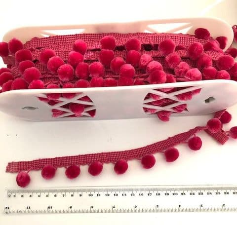 NEW! Large 28mm Hot Pink Luxury Pom Pom Trimming!