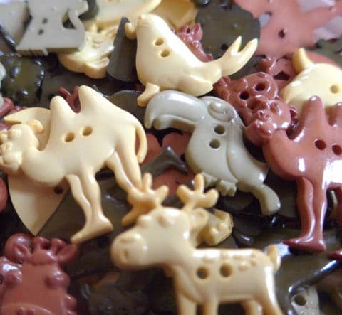 Animal  Zoo Shaped Buttons