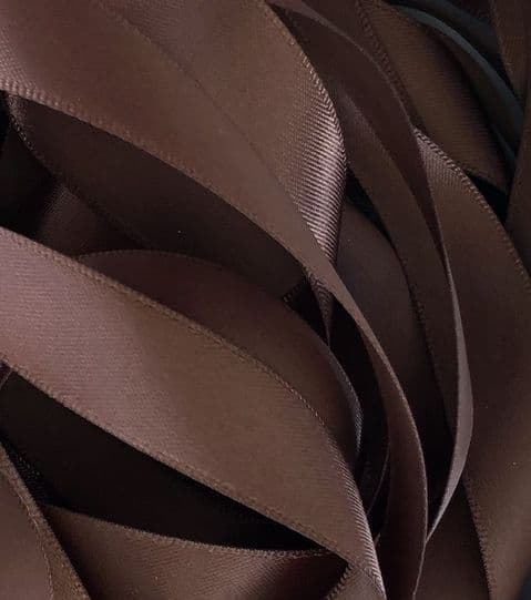 Brown Double Satin Ribbon