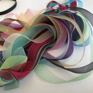 Craft Fairy Grab Bag 16mm Assorted Coloured Organza 20 metre Ribbon Pack