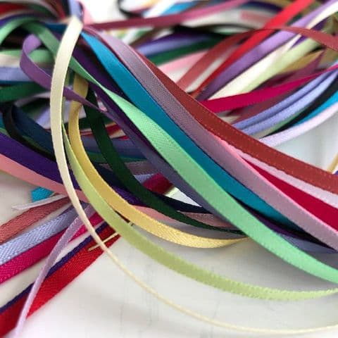 Craft Fairy Grab Bag 3mm Assorted Ribbon Pack General Colours