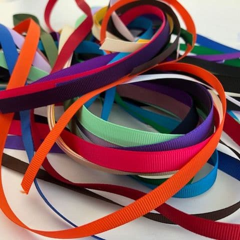 Craft Fairy Grab Bag 9mm Assorted  Coloured Grosgrain 20 metre Ribbon Pack