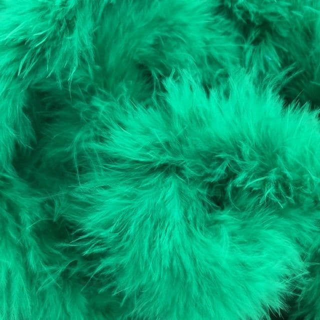 Emerald Green Marabou Feather Trimming