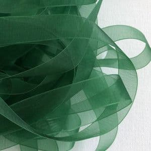 Forest Green Organza Chiffon Ribbon