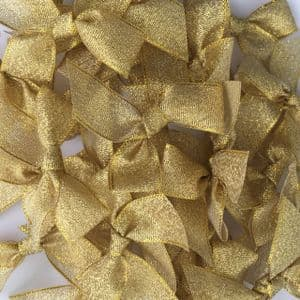 Gold Metallic Lurex 15mm Bow