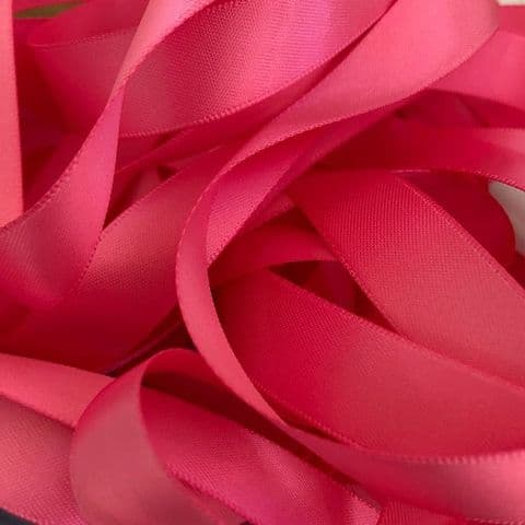 Hot Pink Double  Satin Ribbon