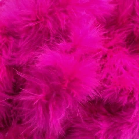 Hot Pink Marabou Feather Trimming