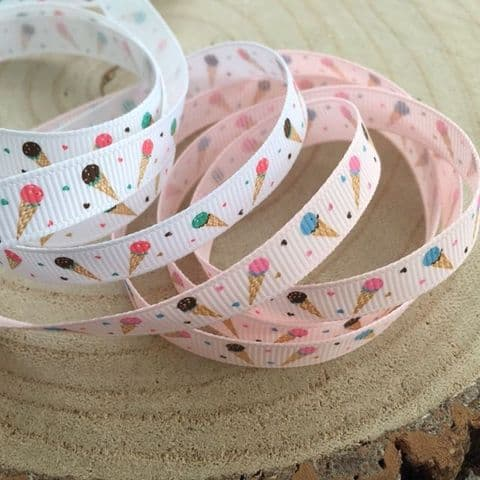 Ice Cream Cone Grosgrain Ribbon
