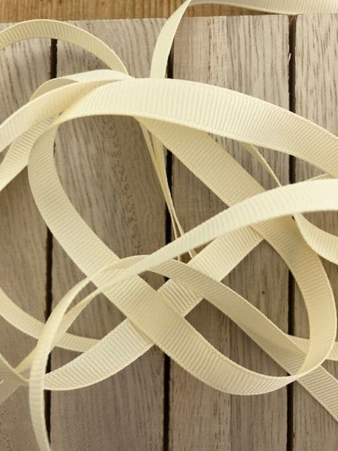 Ivory Grosgrain Ribbon