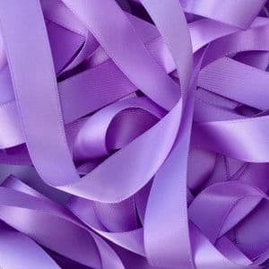 Light Orchid Lilac Double Satin  Ribbon