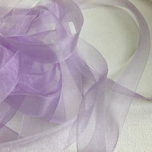 Light Orchid Organza Chiffon Ribbon