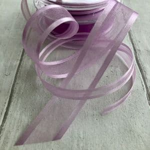 Light Orchid Organza Satin Edged Ribbon
