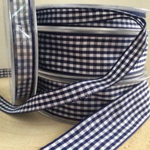 Navy Blue Gingham Ribbon