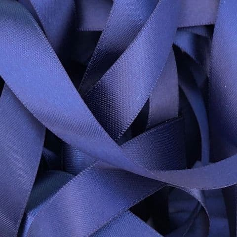 Navy Double  Satin Ribbon