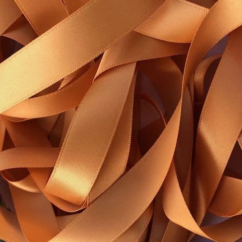 Old Gold Double Satin Ribbon