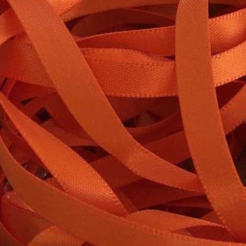 Orange Double Satin Ribbon