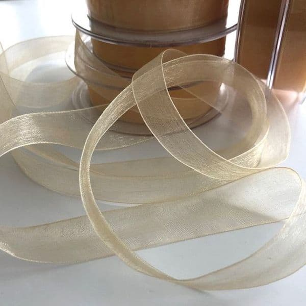 Organza Special Offer Ivory Gold Ribbon