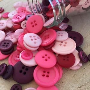 Pink Assorted Colour ButtonValue Pack