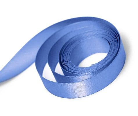 Porcelain Blue Double Satin Ribbon