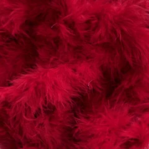 Red Marabou Feather Trimming