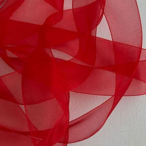 Red Organza Chiffon Ribbon