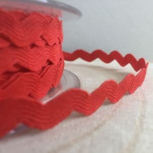 Red Ric Rac 5mm Trim