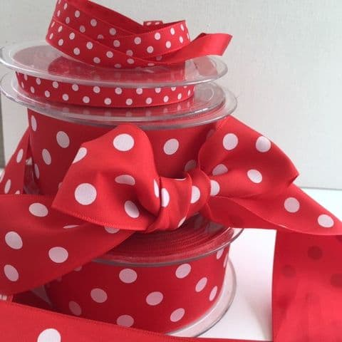 Red & White Polka Dot Ribbon