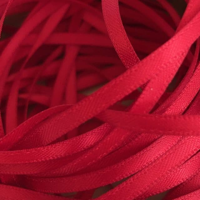 Scarlet Red Double Satin Ribbon