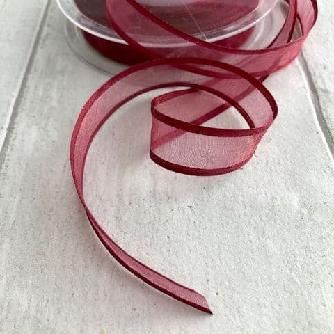 Scarlet Red Organza Satin Edge Ribbon