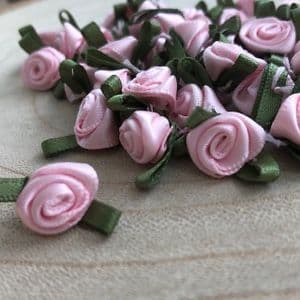 Small Pink Ribbon Roses