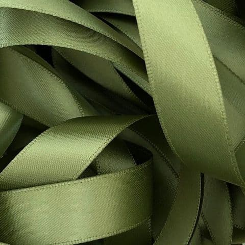 Willow Green Double Satin Ribbon