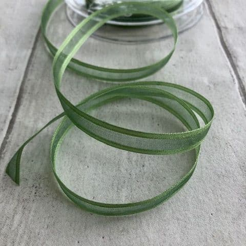 Willow Green Organza Satin Edged Ribbon