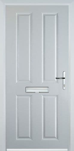 4 Panel Composite Door - White