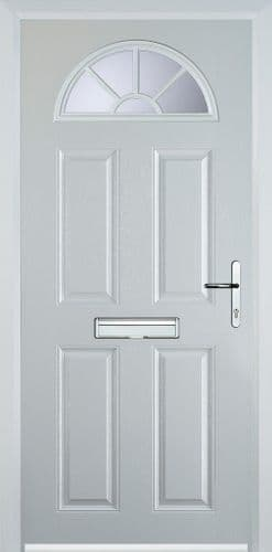 4 Panel Sunburst Composite Door - White