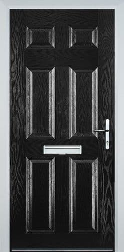 6 Panel Composite Door - Black