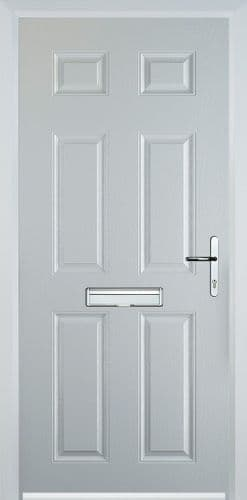 6 Panel Composite Door - White