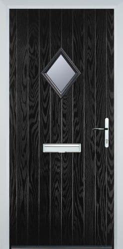 Diamond Glazed Composite Door - Black