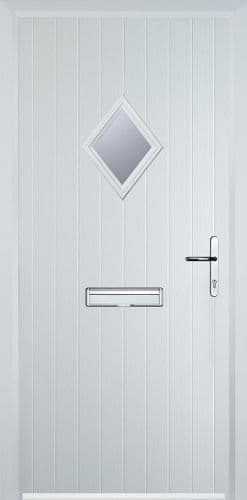 Diamond Glazed Composite Door - White