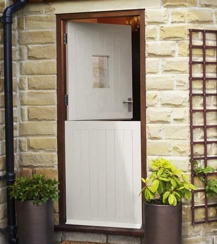 Softwood Stable M&T un-glazed external door (qx)