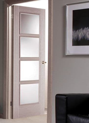 Vancouver Light Grey Pre-Glazed Internal Door