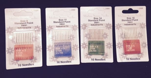 Assorted Size Standard Point Industrial Machine Needles | M. Courts Ltd