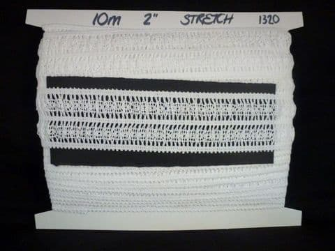 """Clearance 2"""" - 1320 Stretch Cluny Lace"""