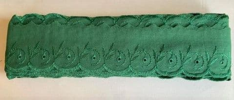 """Clearance 2"""" Emerald Broderie Anglais"""